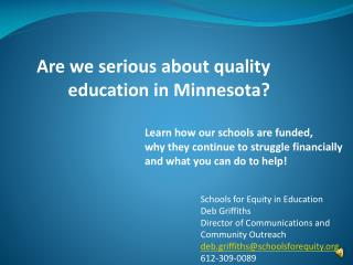 Are we serious about quality education in Minnesota?