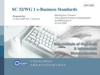 SC 32/WG 1 e-Business Standards