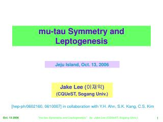 mu-tau Symmetry and Leptogenesis