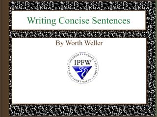 Writing Concise Sentences