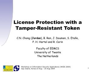 License Protection with a Tamper-Resistant Token