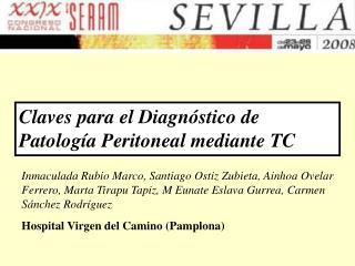 Claves para el Diagnóstico de Patología Peritoneal mediante TC
