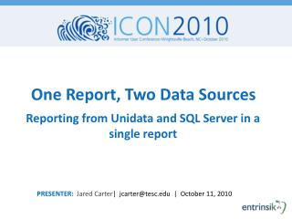 One Report, Two Data Sources