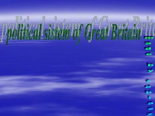 political sistem of Great Britain