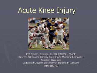 Acute Knee Injury