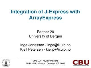 Integration of J-Express with ArrayExpress