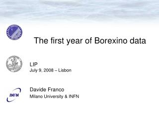 The first year of Borexino data