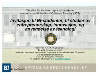 Tilbud for BIs bachelor- og siv.-øk.-studenter