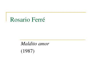 Rosario Ferr