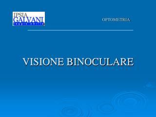 VISIONE BINOCULARE