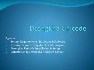 Dzongkha Unicode