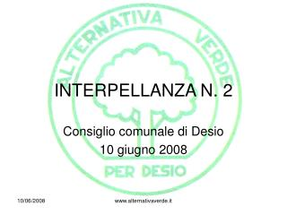 INTERPELLANZA N. 2