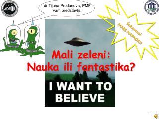 dr Tijana Prodanović, PMF vam predstavlja: