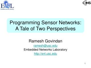 Programming Sensor Networks: A Tale of Two Perspectives