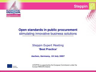 Open standards in public procurement stimulating innovative business solutions