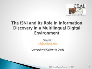 The ISNI and Its Role in Information Discovery in a Multilingual Digital Environment