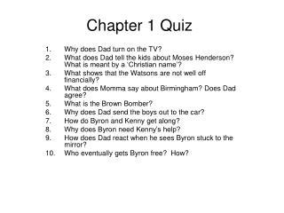 Chapter 1 Quiz