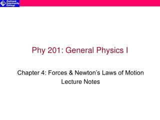 Phy 201: General Physics I