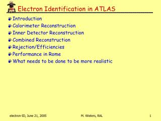 Electron Identification in ATLAS