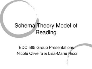 Schema Theory Model of Reading