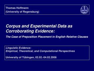 Thomas Hoffmann (University of Regensburg)
