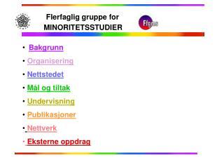 Bakgrunn Organisering Nettstedet Mål og tiltak Undervisning Publikasjoner Nettverk