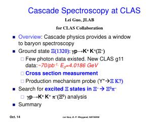 Cascade Spectroscopy at CLAS