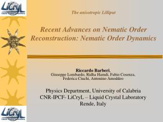 The anisotropic Lilliput Recent Advances on Nematic Order Reconstruction: Nematic Order Dynamics