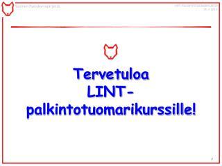 Tervetuloa  LINT- palkintotuomarikurssille!