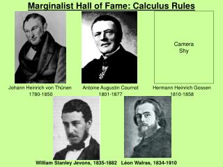 Marginalist Hall of Fame: Calculus Rules