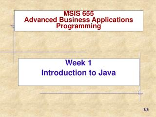 MSIS 6 55 Advanced Business Applications Programming