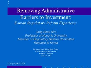 Removing Administrative Barriers