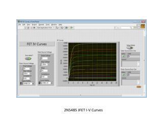 2N5485 JFET I-V Curves