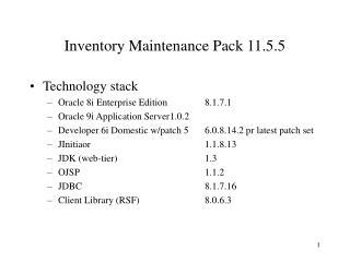 Inventory Maintenance Pack 11.5.5