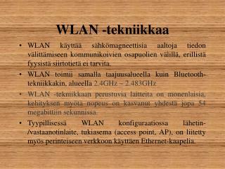 WLAN -tekniikkaa
