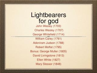 Lightbearers for god