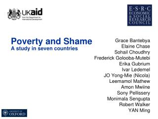 Poverty and Shame A study in seven countries