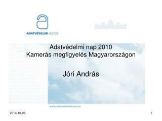 Adatvédelmi nap 2010 Kamerás megfigyelés Magyarországon