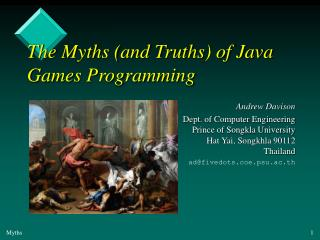 The Myths (and Truths) of Java Games Programming