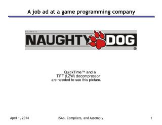 A job ad at a game programming company