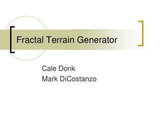 Fractal Terrain Generator