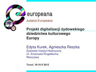 Europeana  - projekty