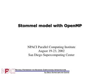 Stommel model with OpenMP