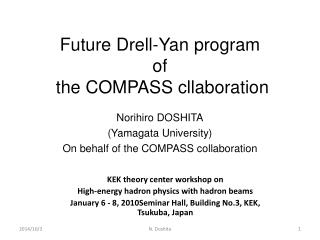 Future Drell-Yan program  of  the COMPASS cllaboration
