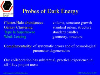 Probes of Dark Energy