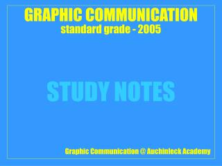 GRAPHIC COMMUNICATION