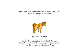 Troubles de sant  chez la vache laiti re haute productrice : Impact  conomique et pr vention