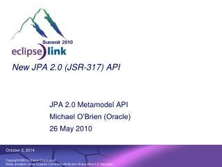 New JPA 2.0 (JSR-317) API