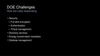 DOE Challenges