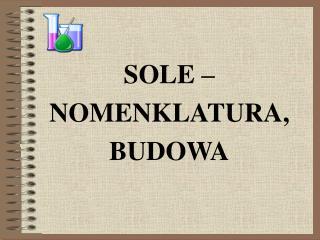 SOLE – NOMENKLATURA, BUDOWA